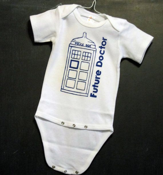 Future Doctor Doctor Who Baby Onesie Pick Your by FourEyesHandmade, $16.00