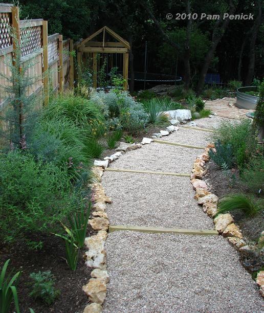 Garden Design For Sloped Garden Ideas: Easy Gravel Path On A Slope