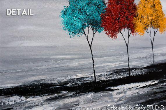 Les 25 meilleures id es concernant arbres abstraits sur pinterest peintures abstraites for Peinture murale originale