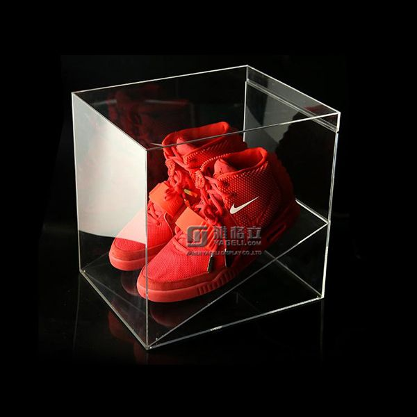 Clear acrylic shoe box manufacturer
