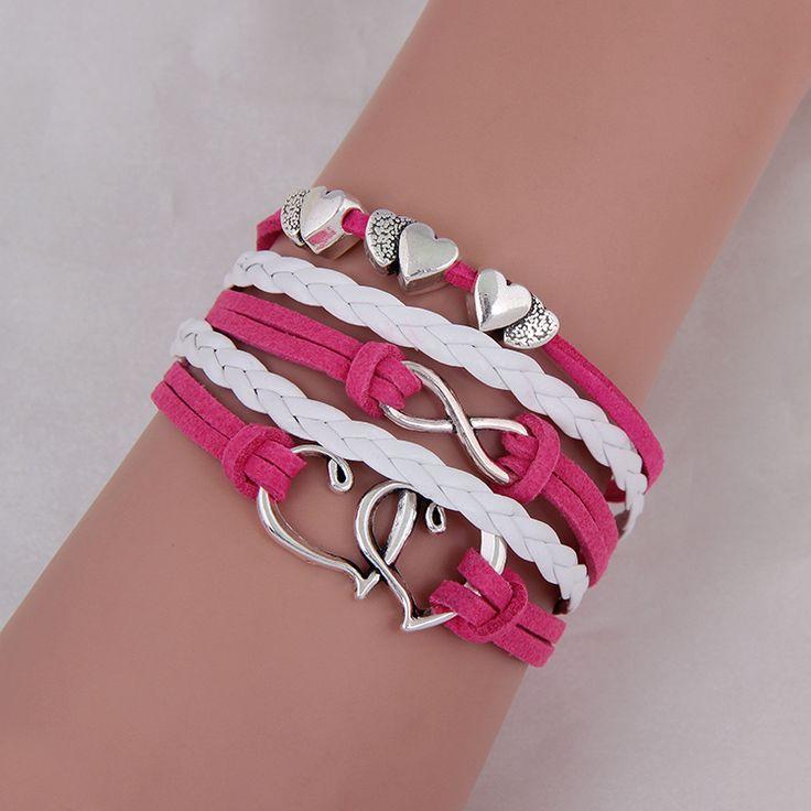 Fashion Jewelry Vintage Anchors Rudder Metal Leather Bracelet Multilayer Rope Bracelets Wrap Bracelets Girl Wholesale Bangle