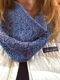 Here is an easy cowl pattern that can be knit in either dk or worsted yarn. The gauge is not essential, but using the smallest needle recommended for your yarn is preferable as this pattern looks best knitted in a tighter gauge. Solid colored or lightly tonal yarns are recommended.