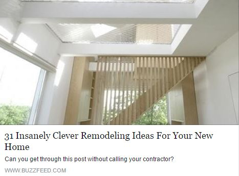 Remodeling Ideas For Your New Home !! http://www.buzzfeed.com/peggy/insanely-clever-remodeling-ideas-for-your-new-home#.fhMMRVbwY