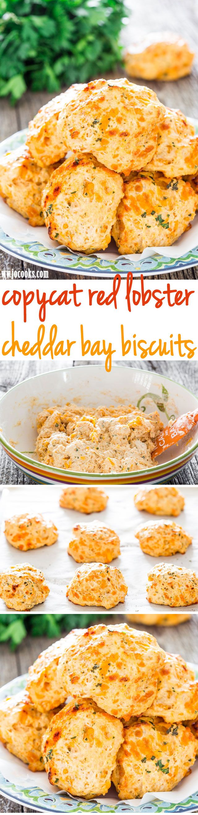 Copycat Red Lobster Cheddar Bay Biscuits - you can be enjoying these savory cheddar bay biscuits in just under 30 minutes. They're easy to make and soooo good!
