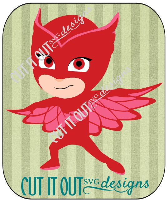 PJ Masks Characters Owlette (Amaya) SVG Or Studio File