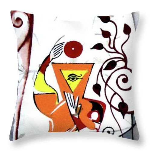 Meditation Throw Pillow featuring the painting Inspirational- IIi by Rupam Shah