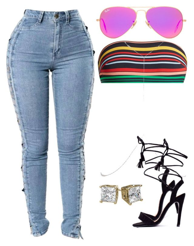 """""""Normal Girl - SZA"""" by auarie on Polyvore featuring Ray-Ban, STELLA McCARTNEY, Lamoda, River Island and AriIdeas"""