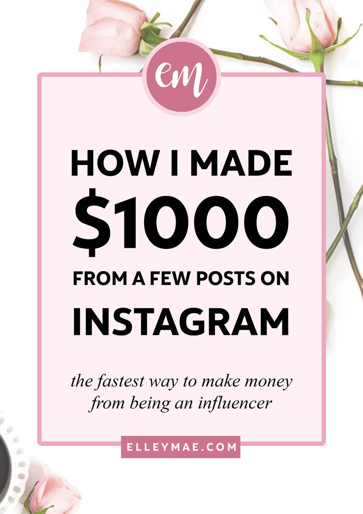 How I Made My First $1k from Sponsored Instagram Posts | How to Make Money on Instagram Fast