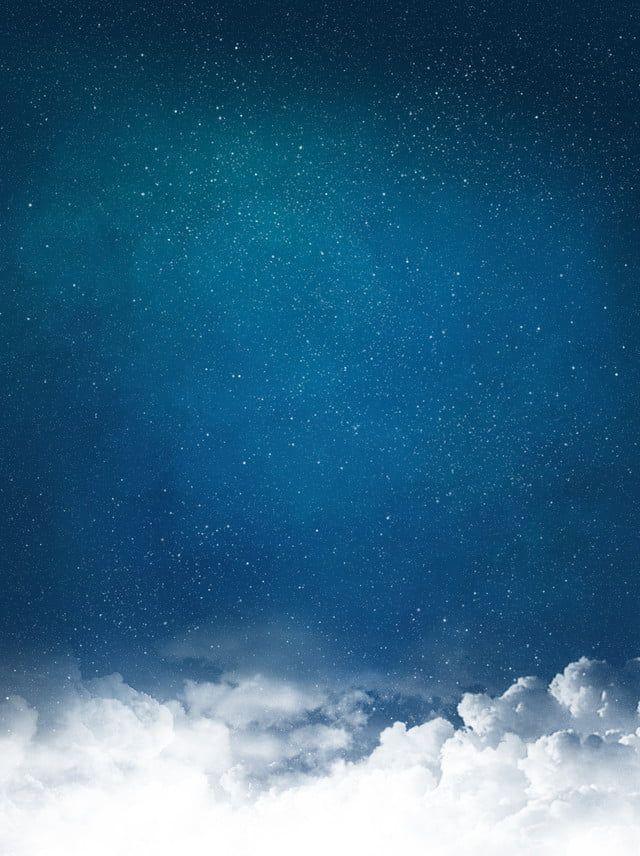 سماء الليل الزرقاء غيوم النجوم خلفية هادئة Star Background Clouds Star Cloud