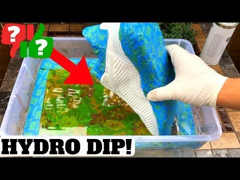 f9fa1a67d HOW TO HYDRO DIP WITH HYDROGRAPHIC FILM! SNEAKER CUSTOM FUN - YouTube