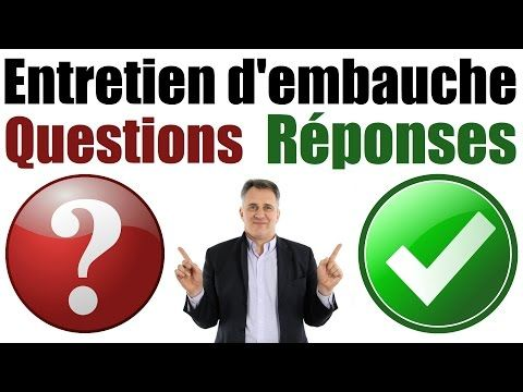Entretien d'embauche Questions et Réponses exemples, coaching emploi - YouTube
