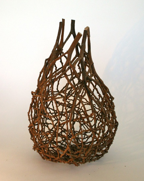 'Brown Tangle | palm inflorescence' by Australian fiber artist Harriet Goodall. via eclectica2011.com.au