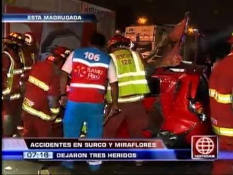 América Noticias: Accidentes de tránsito en Surco y Miraflores dejaron 3...