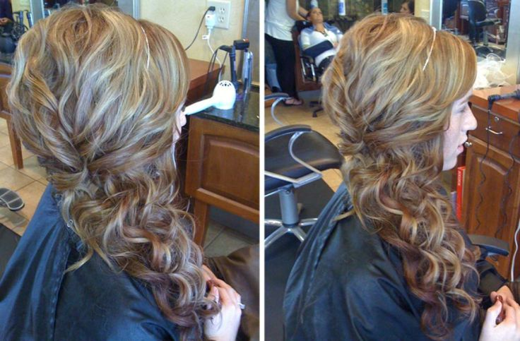 Prom Hairstyles Side Swept Curls With Braid   Side swept ...