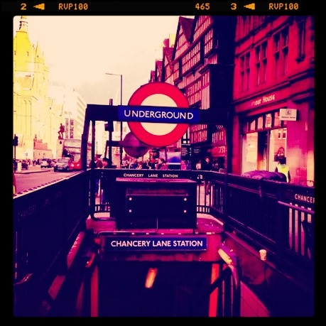 Chancery Lane tube stop - right on our doorstep
