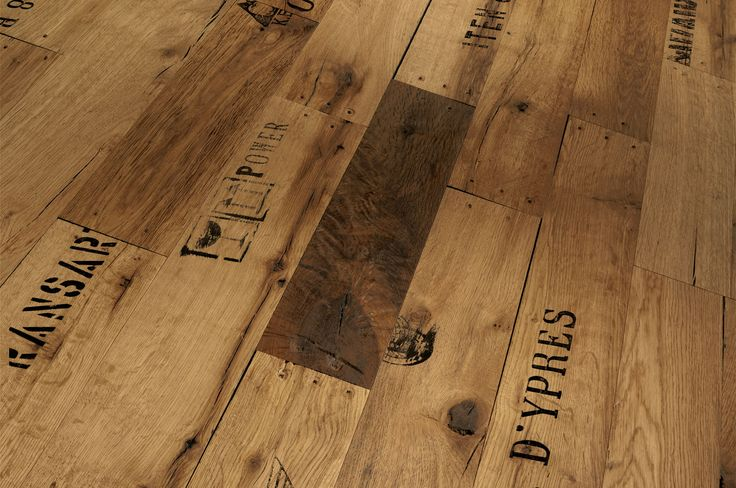 Wood crate engineered flooring by Parador.