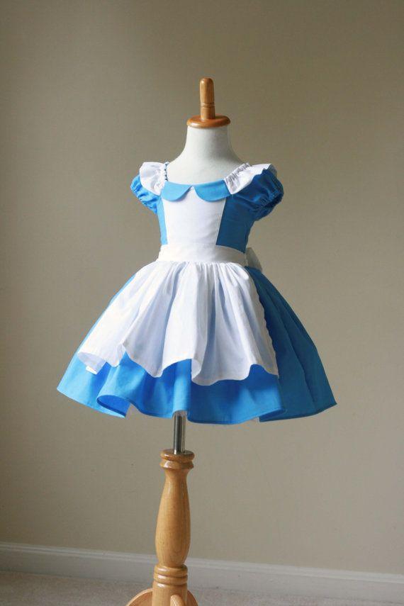 Alice in Wonderland Inspired Cotton Dress- sizes 3m 6m, 12m, 18m, 2, 3, 4, 5, 6, 7, 8