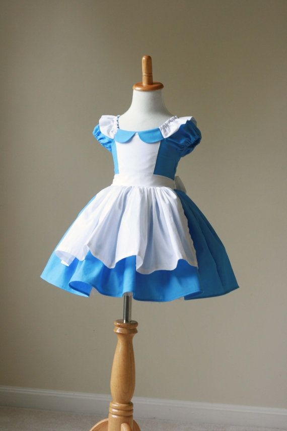 Alice in Wonderland Inspired Cotton Dress by 5littlemonkeysdesign