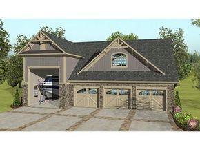 3 Car Garage and Apartment - unique design with 2 story apartment