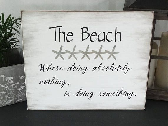 Beach sign w starfish hand painted wood sign 17 5 x hütte chicdistressed zeichenstrand