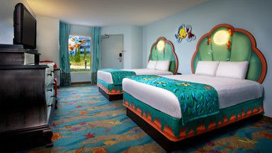 The Little Mermaid room at the Art of Animation hotel at Disney World.  My munchkin will love this!!!