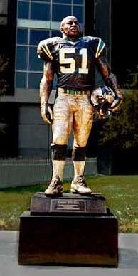 Sam Mills statue in Bank of America Stadium home of the Carolina Panthers