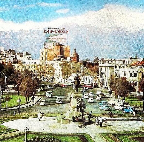 Plaza Italia años 60', Santiago, Chile