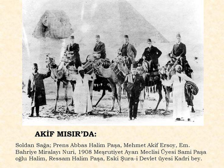 #MehmetAkifErsoy Mısır'da...  Mehmed Akif Ersoy, polis takibinden bunaldığı için 1925 yılında  Mısır'a gitti.
