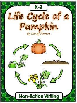 ***  FREE DOWNLOAD  *** Pumpkin Life Cycle Non-fiction Writing Activity   pumpkins, kindergarten, 1st grade, 2nd grade, writing