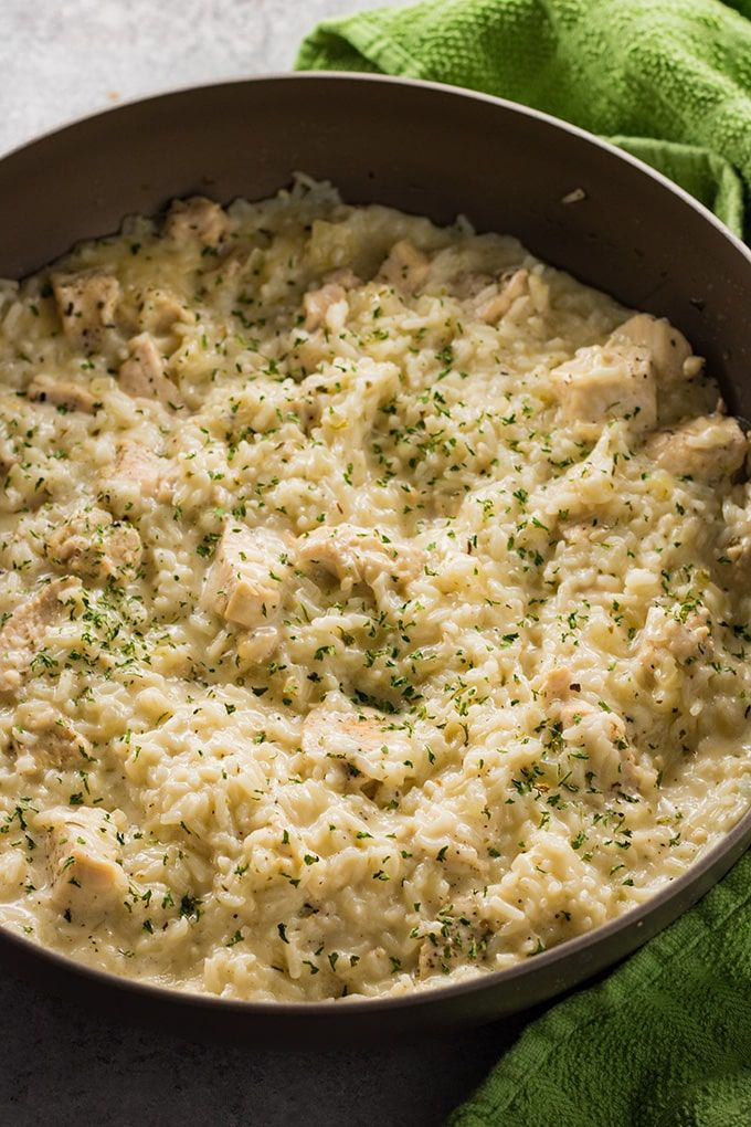 Creamy chicken and rice one pot meal