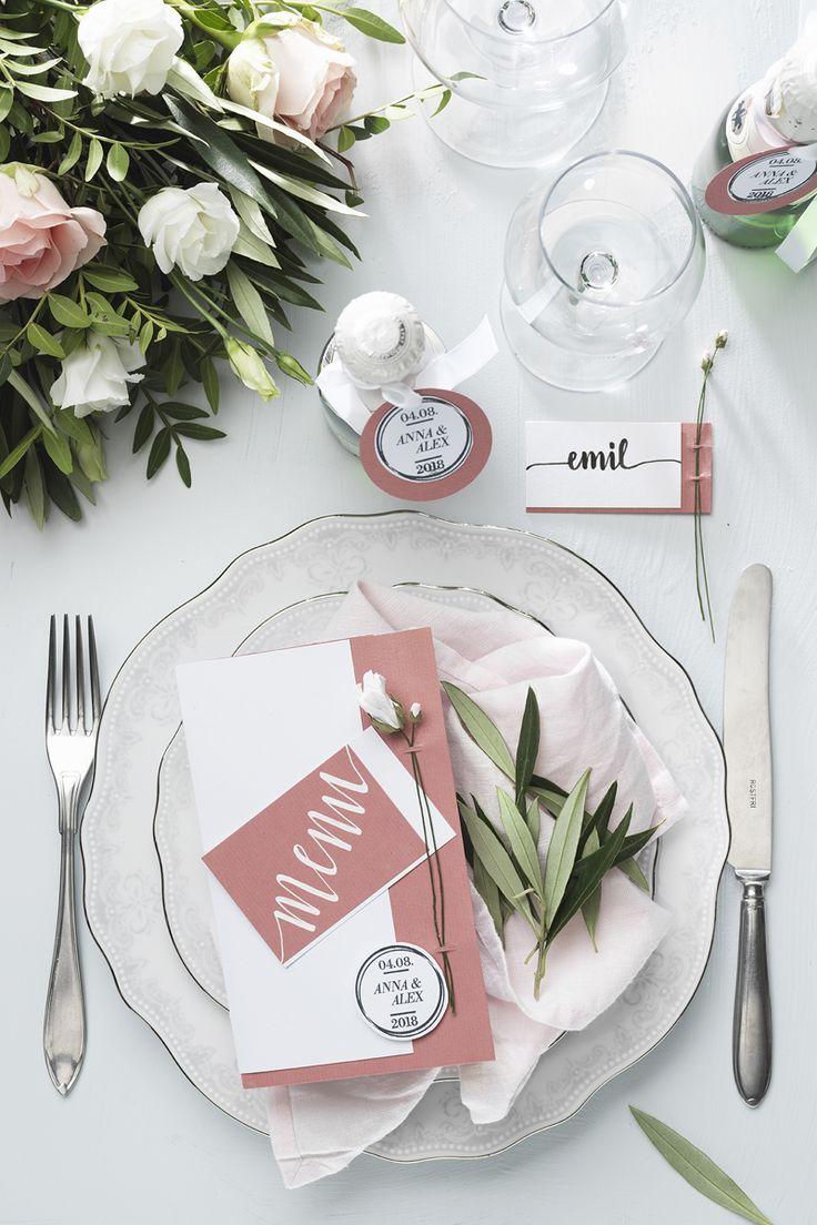 Table setting in pink www.panduro.se #DIY #pink