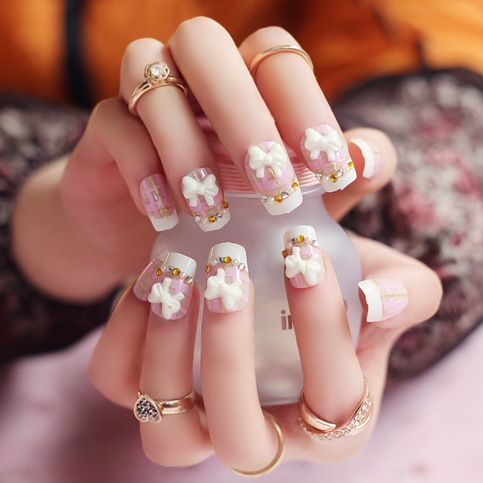 33 best 3d nail art images on pinterest 3d nails art japanese cheap fake nails art tips buy quality nail art tips directly from china false nails suppliers 24 pcs cute dream blue glitter false nails manicure square solutioingenieria Choice Image