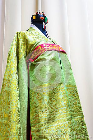 Traditional weeding bride young girl clothes Koreans ancient HanBok style Joseon dynasty.