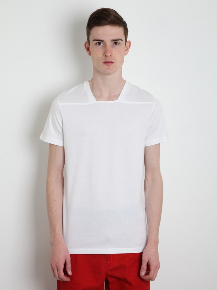 Jil sander men 39 s v neck t shirt new neckline update for Jil sander mens shirt
