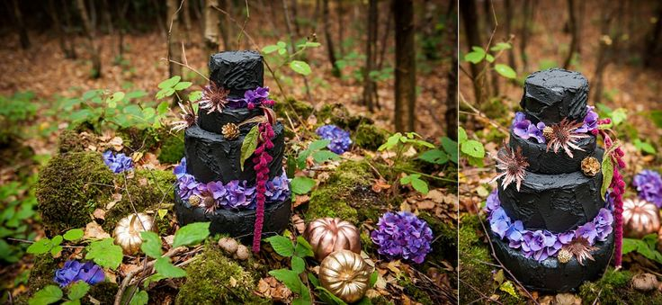 Fairytale wedding - black wedding Cake