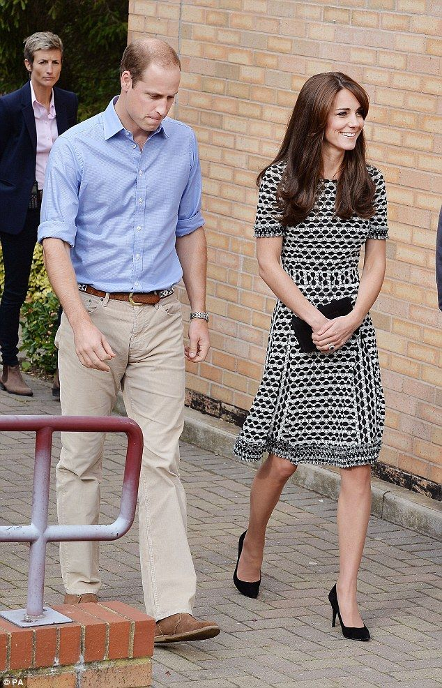 The Duke and Duchess of Cambridge, pictured during their visit to Harrow College in north west London today
