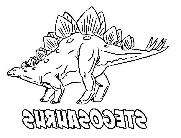 The Incredible Interesting Dinosaur Coloring Pages Stegosaurus