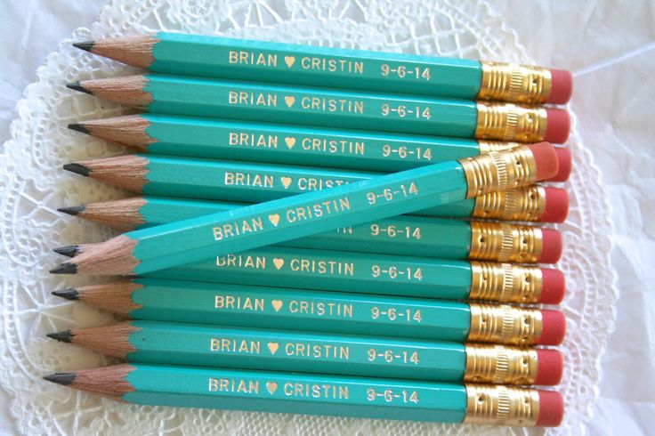 Mini Personalized Pencils, PERSONALIZED Favors by SwoonPartyShop on Etsy https://www.etsy.com/listing/200667729/mini-personalized-pencils-personalized