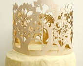 laser cut wooden cake toppers - By Madeline Trait by ByMadelineTrait on  #birthday #wedding #retirement
