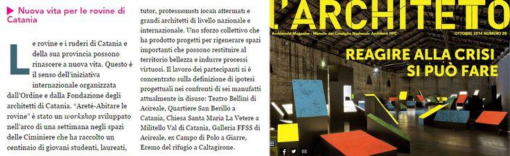 Aretè è su L'ARCHITETTO http://www.larchitetto.it/magazine/ottobre-2014