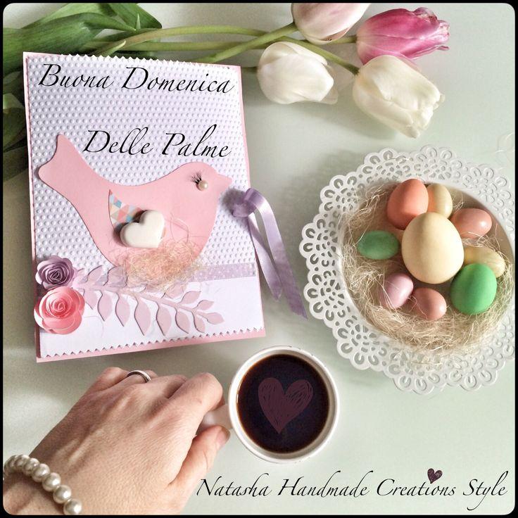 Colazione speciale!!! con il mio immancabile caffè e una Cards di buon augurio dai colori pastello x omaggiare la tanto attesa primavera