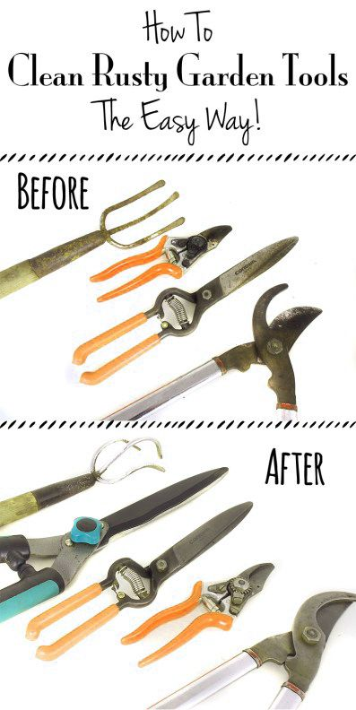How To Clean Rusty Garden Tools