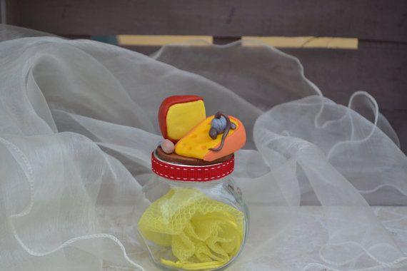 Topino goloso / Vasetti decorati con di pasta di RFAngoloSogni