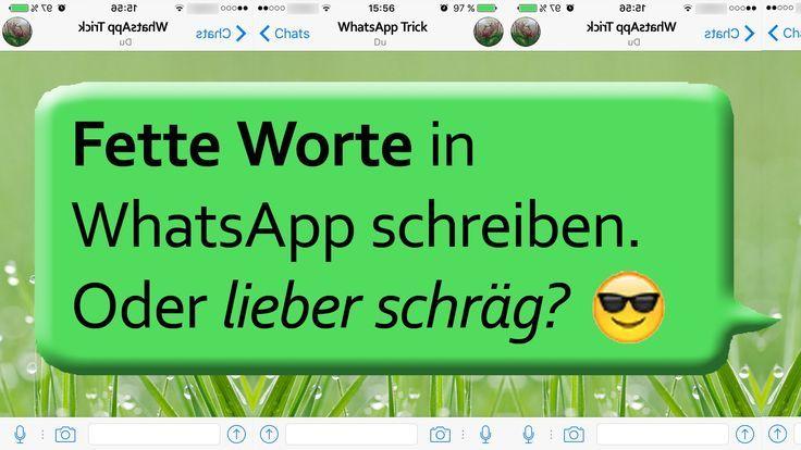 Whatsapp Schräg Schreiben