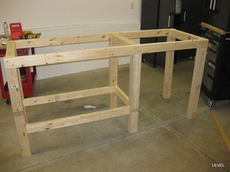 Garage work bench | Garage / Outdoor Projects | Pinterest | Garage, Work benches and Garage work ...