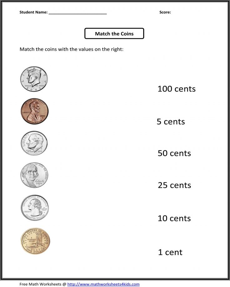 Free Printable 1st Grade Money Math Worksheet in 2020 ...
