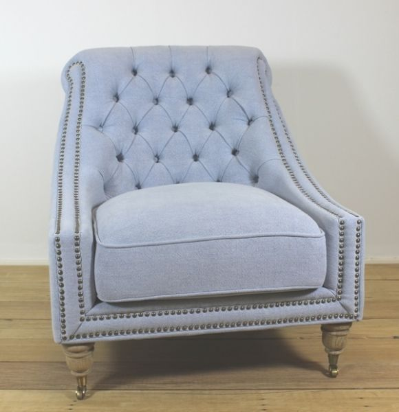 Chair GiGi Linen Bleu from Villa Maison #hamptonsstyle #hamptons #interiors #design