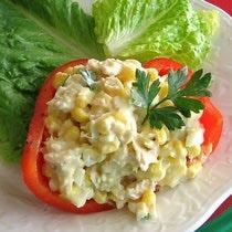 Romanian Corn and Tuna Salad Recipe - Porumb şi Salată de Ton