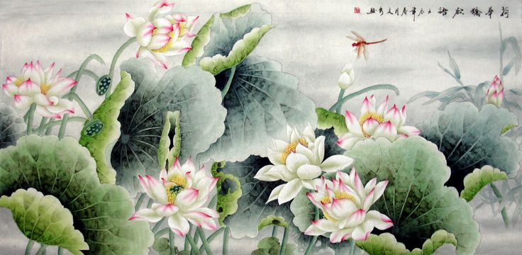 Chinese Painting: Lotus - Chinese Painting CNAG234395 - Artisoo.com