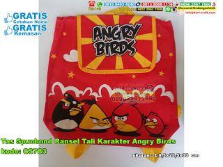 Tas Spunbond Ransel Tali Karakter Angry Birds WA/SMS/TELP: 0899-5255-896 #  #tasunik #hargatas #TasSpunbond #JualSpunbond #souvenirUnik